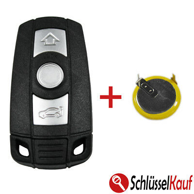 BMW Car Key 3 Button Housing E60 E87 E90 E91 E92 X1 X5 +LIR2025 Battery