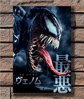 C45 Venom 2018 Movie Tom Hardy Marvel New Comics Art Print Poster 12x18 24x36in