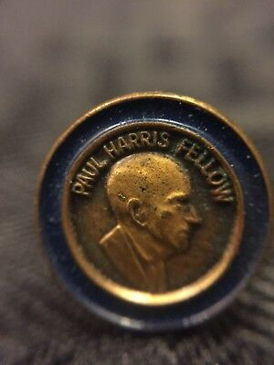 vintage Rotary International Paul Harris Fellow Donor Award Lapel Pin Tie Tac