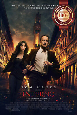 New Inferno Tom Hanks 2016 Original Official Movie Film Print Premium Poster