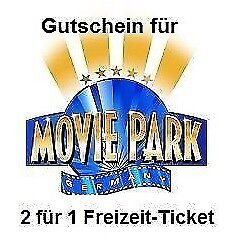 "1x GUTSCHEIN 2 FÜR 1 ""Movie Park"" Bottrop Ticket Coupon Wert 39,50 € bis 10/2019"