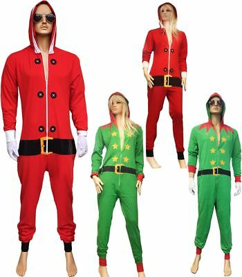 Adults Fancy Christmas Party Wear Santa Costume Mens Dress Party Elf Outfit