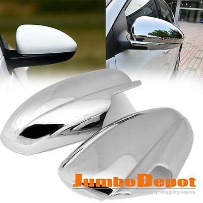 Triple Chrome Side Door Full Mirror Cover Trim Pair For Chevy Cruze 2009-2015