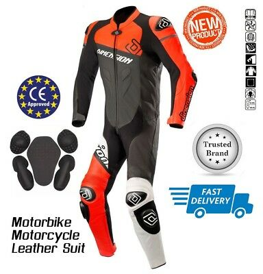 motorbike leather suit racing suit 1 & 2 piece suit CE approved Cowhide Leather