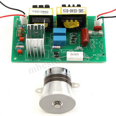 50W 40KHz Ultrasonic Cleaning Transducer Cleaner + Power Driver Board 110V AC