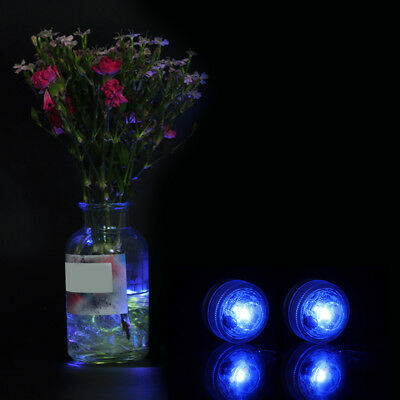 10pcs LED Submersible Under Water Lights Remote Control Pool Fountain Swimming
