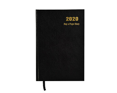 2020 A4 Diary Day to Page Desk Diary Hardback Cover, Red, Blue, Black x 1