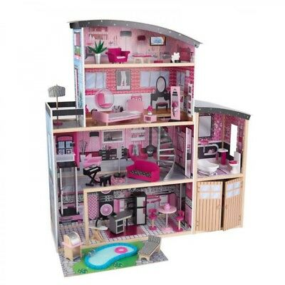 Kidkraft Sparkle Mansion Doll House With Elevator And Furniture