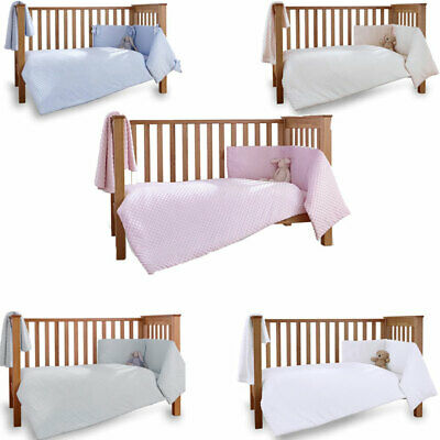 Clair de Lune Dimple 3 Piece Quilt Bedding Bale, Cot/Cot Bed