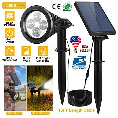4 LED Solar Garden Lamp Spot Light Outdoor Lawn Landscape Spotlight Lighting Lot