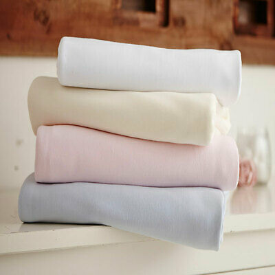 Clair de Lune Jersey Cotton Interlock Fitted Sheet, 2 Pack