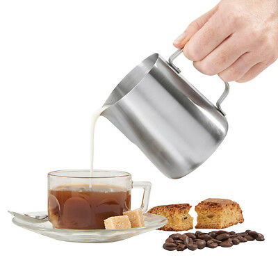 Stainless Steel Milk Pour Pot Frothing Jug Frother Coffee Container 7 SIZES Cup
