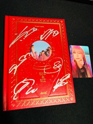 A-PINK [ONE & SIX] Album Autograph ALL MEMBER Signed PROMO ALBUM KPOP