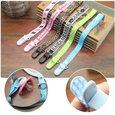 Fashion Baby Dummy Clip Baby Soother Clips Chain Holder Pacifier Strap 6 Designs