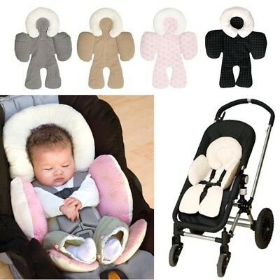 Newborn Baby Car Seat Stroller Cushion Pad Liner Mat Head Body Support UK