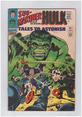 Tales to Astonish # 81  The Man Called Boomerang !  grade 4.0 scarce book !