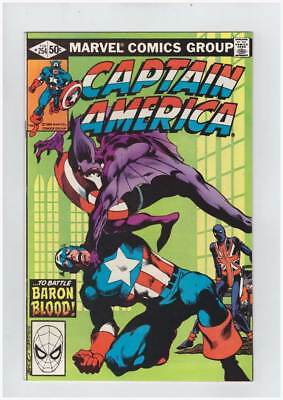 Captain America # 254  ...To Battle Baron Blood !  grade 9.0 scarce book !