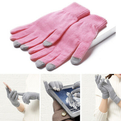 Unisex Adult Insulation Touch Screen Winter Warm Knit Gloves For Smartphone DFE