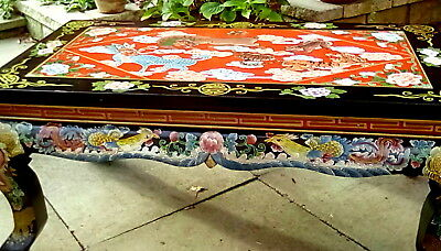 """PAINTED LACQUER COFFEE TABLE 22.5"""" x 43"""" Collection Only"""