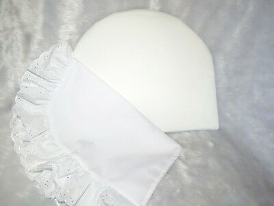 Baby Pram Half Moon Round Support Pillow &/or Broderie Anglaise Trim Pillow Case