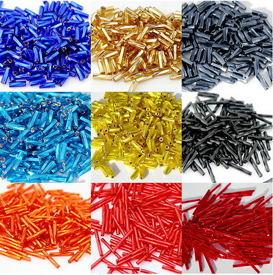 Czech Glass Beads Bugles Twisted 30g ,6,9,30mm,each add. item is Free postage