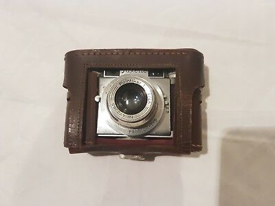 Vintage Braun Paxette Pointikar Camera with Leather Casing