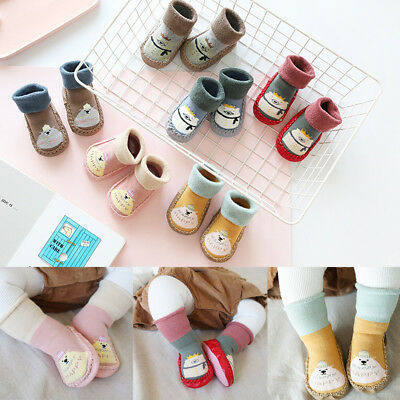 Socks Rubber Shoes Footwear Random Cartoon Baby Floor Child Toddler Soles Infant