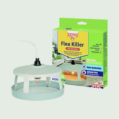 Zero In Electric Flea Killer Unit Trap + 3 Refill Disks 24 Hour Protection