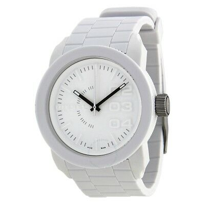 d802d3f6f30b Diesel Double Down White Rubber Strap White Dial DZ1436 Mens Watch