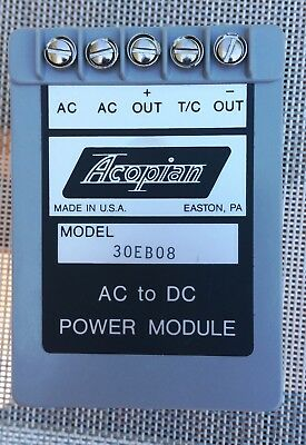 New Acopian DC Power Supply Md 30EB08 30V output Linear Regulated Power Supply