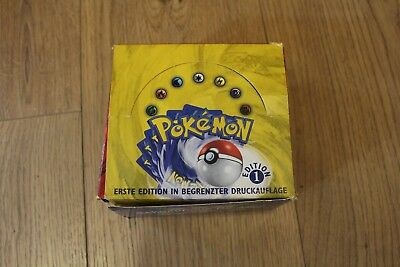 Pokemon 1st Edition Base Set Display Deutsch LEER !!! NUR BOX