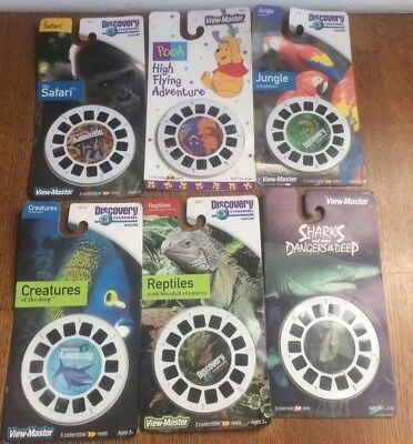 View Master Reels Discovery Pooh Sharks New Reptiles Creatures Jungle Safari