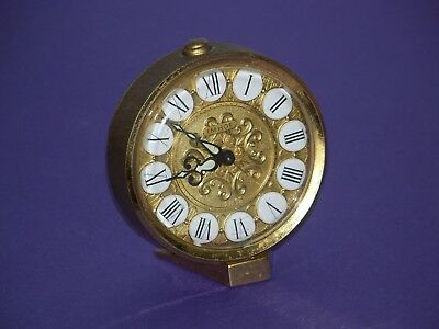 Nice Vintage Swiss Imhof 8 Day, 7 Jewels Alarm Clock