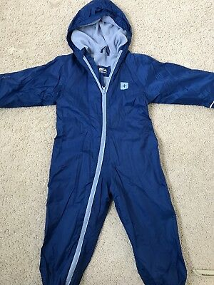 Childs Fully Lined All In One Waterproof Suit Age 2-3 Years