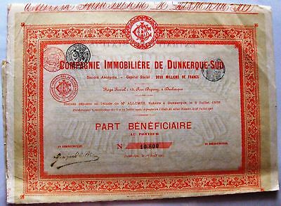 French bond Dunkirk-South Real Estate Company 1905