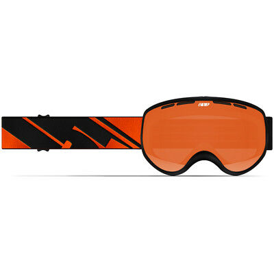 509 YOUTH Child Kids RIPPER Snow Snowmobile GOGGLES-BLACK FIRE- Orange Tint Lens