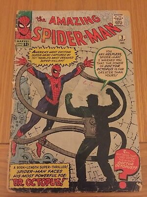 Amazing spiderman # 3 DR OCTOPUS First Appearance Pin up Page Missing