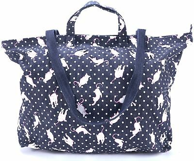 6911fc33bb2b MIU MIU BLUE Denim Polka Dot Cat Tote Shopper Bag -  147.00