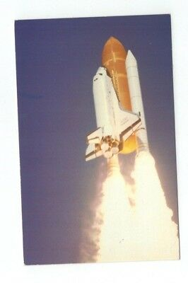 Standard Size NASA Chrome Post Card Space Shuttle Challenger Launch April 4 1983