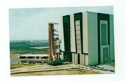 Standard Size NASA Chrome Post Card Apollo Saturn V Enroute to Launch Complex
