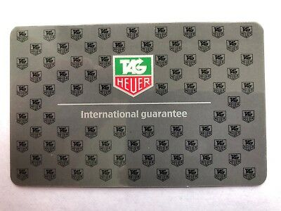 (1) TAG Heuer OEM Blank International Warranty Guarantee Card -Worldwide Ship