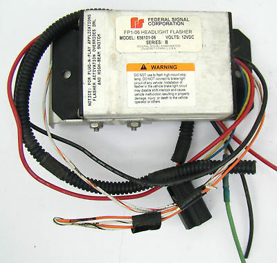 FEDERAL SIGNAL FP1-06 Headlight Flasher Model 656101-06 12VDC Series on