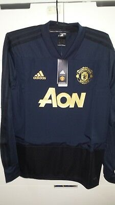 20d091954 Adidas Manchester United 18-19 Men Football Soccer Ultimate TRAINING TOP  CW7576