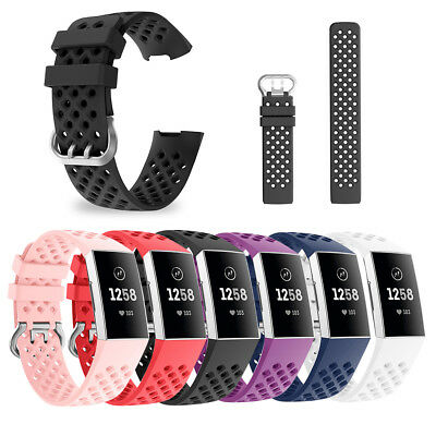 Silicone Wristband Strap Smartwatch Bracelet Watch Band for Fitbit Charge 3 23mm