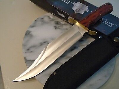 "Timber Rattler Coliseum Battle Bowie Hunter Knife Full Tang TR153 15"" OA New"