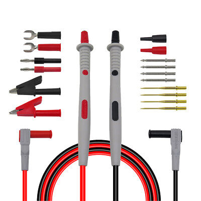 Multi GoldPlated Automotive Test Lead Kit for Multimeter Test Probe 18-in-1