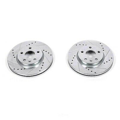 """Brake Rotors 2 FRONT ELINE /""""DRILLED AND SLOTTED/"""" PERFORMANCE DISC RQ21009"""