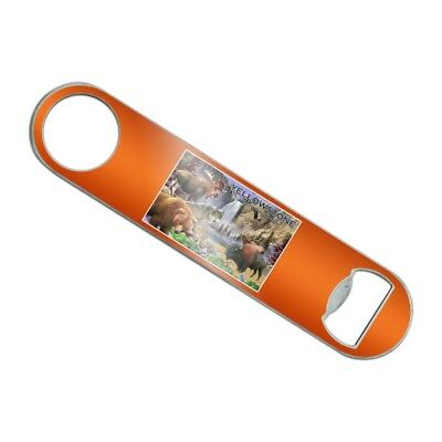 Yellowstone National Park Animals Stainless Steel Flat Speed Bottle Opener