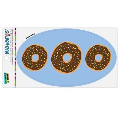 Cute Donut with Sprinkles Chocolate Icing Car Euro Oval Magnet