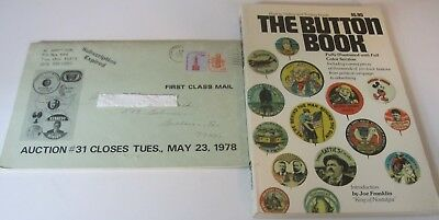 The Button Book 1972 -255 Pgs Illustrated Price Guide & 1978 Button Auction Book